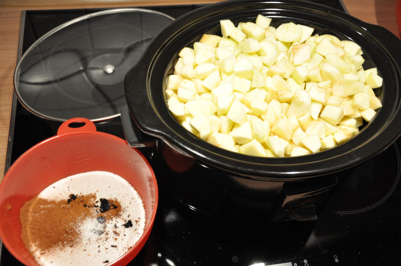 apple butter-AppleButter01-Apple Butter aus dem Crockpot / Slow Cooker