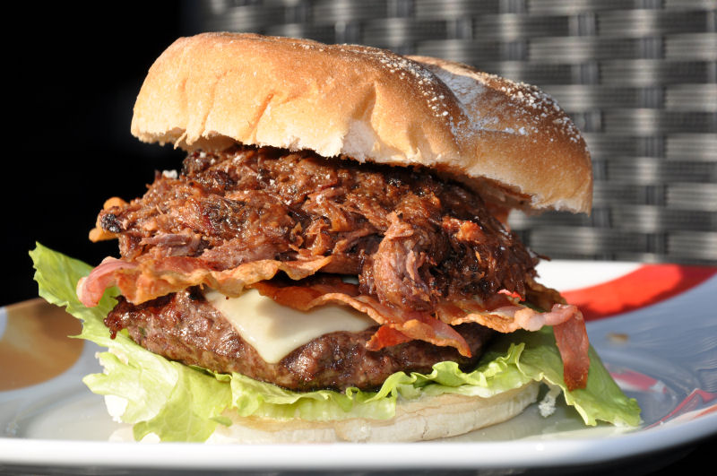 Pulled Beef Burger Pulled Beef Burger-BCBPBB11-Pulled Beef Burger mit Crispy Bacon