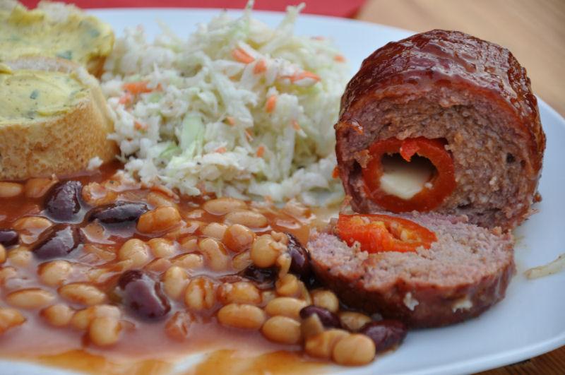 Tellerbild Armadillo Eggs MeMyself's Aussenküche-Bild09-Ein Tag in MeMyself's BBQ Pit mit 12 Gästen und reichlich Grillgut