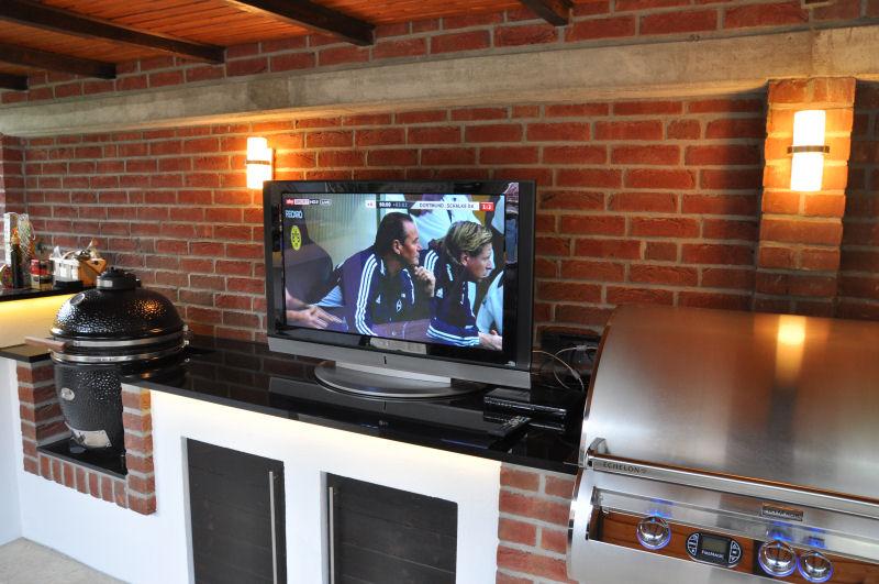 Grill Für Außenküche : Bau einer außenküche gasgrill plus keramikei seite