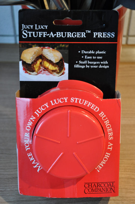 Stuff-a-burger Presse Griechischer Burger-Burger03-Griechischer Burger mit Feta gefüllt