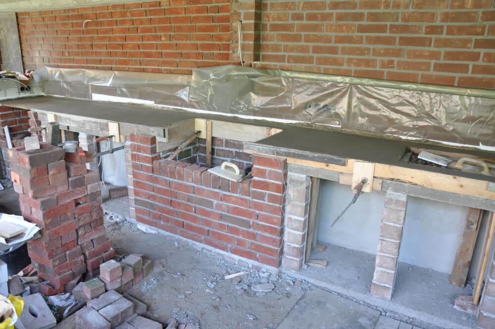 Außenküche Selber Bauen Unterkonstruktion : Küche selber bauen billig billige kleine küche led beleuchtung