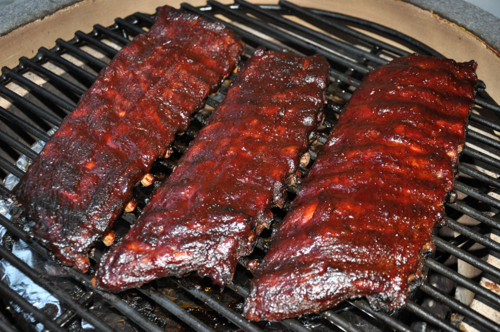 Glasierte Ribs nach 6 Stunden auf dem Grill ribs nach big bob gibson-BBGRibs13-Ribs nach Big Bob Gibson in drei Varianten