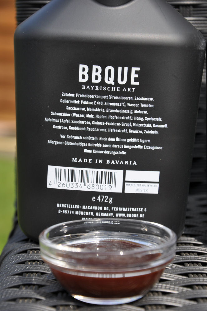 """BBQUE Bayrische BBQ-Sauce """"Das Original"""" BBQUE-BayrischeBBQUESauce03-Alle 4 Sorten BBQUE Bayrische BBQ Sauce im Test"""