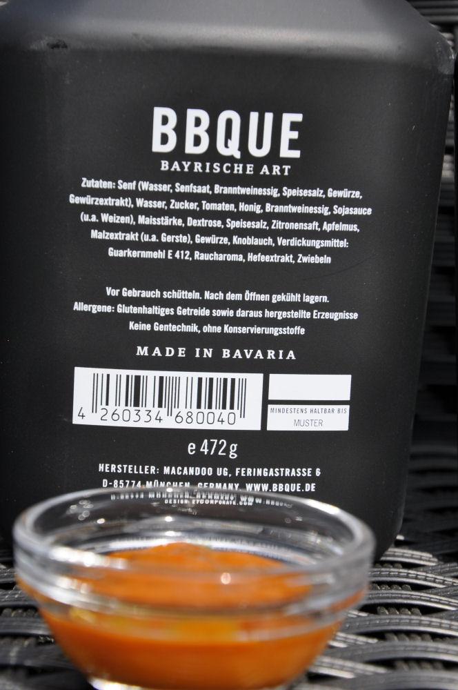 BBQUE Bayrische BBQ-Sauce Honig & Senf bbque-BayrischeBBQUESauce04-Alle 4 Sorten BBQUE Bayrische BBQ Sauce im Test bbque-BayrischeBBQUESauce04-Alle 4 Sorten BBQUE Bayrische BBQ Sauce im Test