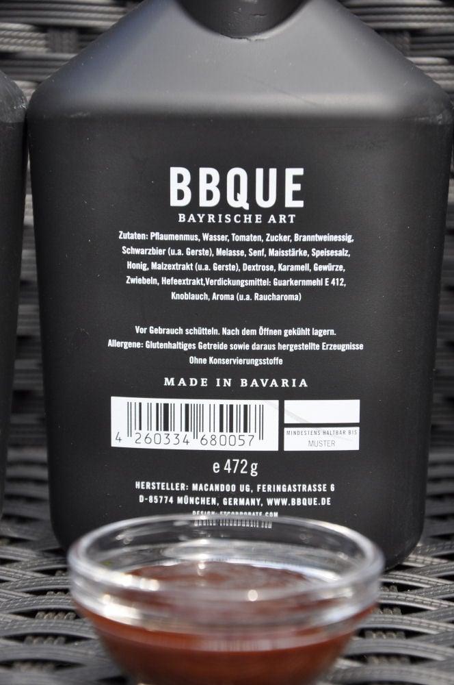 BBQUE Bayrische BBQ-Sauce Grill & Buchenholz BBQUE-BayrischeBBQUESauce05-Alle 4 Sorten BBQUE Bayrische BBQ Sauce im Test