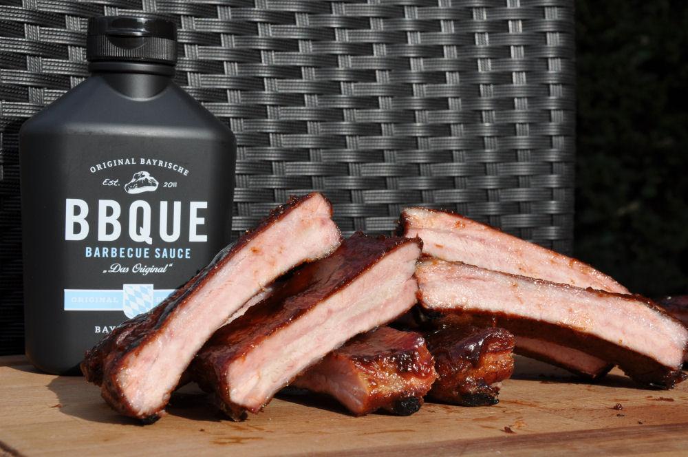 Ribs mit bayrischer BBQ-Sauce glasiert GMG Pelletsmoker-RippePelletsmoker05-Zweiter Test mit dem GMG Pelletsmoker: Ribs glasiert mit bayrischer BBQUE Sauce