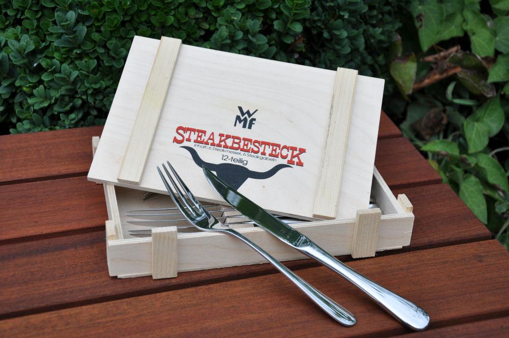 WMF Steakbesteck WMF Steakbesteck-WMFSteakbesteck01-Kauftipp: 12-teiliges WMF Steakbesteck in Holzkiste