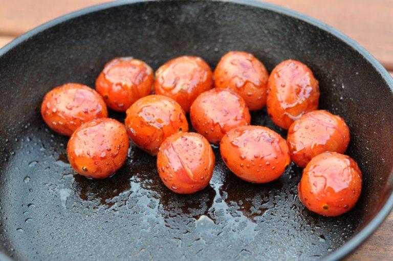 Karamellisierte Kirschtomaten mit Balsamico