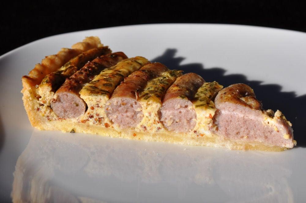 Wursttorte wurstkuchen-Wurstkuchen06-Herzhafter Wurstkuchen vom Grill