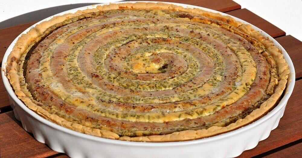 Wurstkuchen wurstkuchen-Wurstkuchen1-Herzhafter Wurstkuchen vom Grill