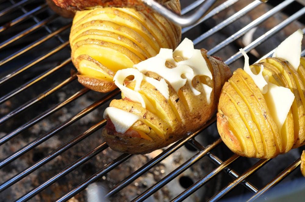 Hasselback Potatoes fächerkartoffeln-BaconCheeseFaecherkartoffeln03-Fächerkartoffeln mit Bacon & Käse – Hasselback Potatoes