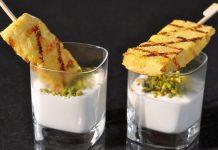 Gegrillte Ananas mit griechischem Honig
