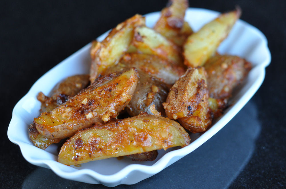 gebackene Kartoffeln mit Parmesan parmesan-kartoffeln-ParmesanKartoffeln-Parmesan-Kartoffeln mit geräuchertem Paprikapulver