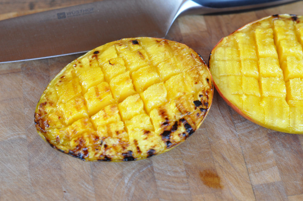 Gegrillte Mango Mango-Minz-Chutney-MangoMinzChutney03-Mango-Minz-Chutney mit Jakobsmuscheln im Speckmantel