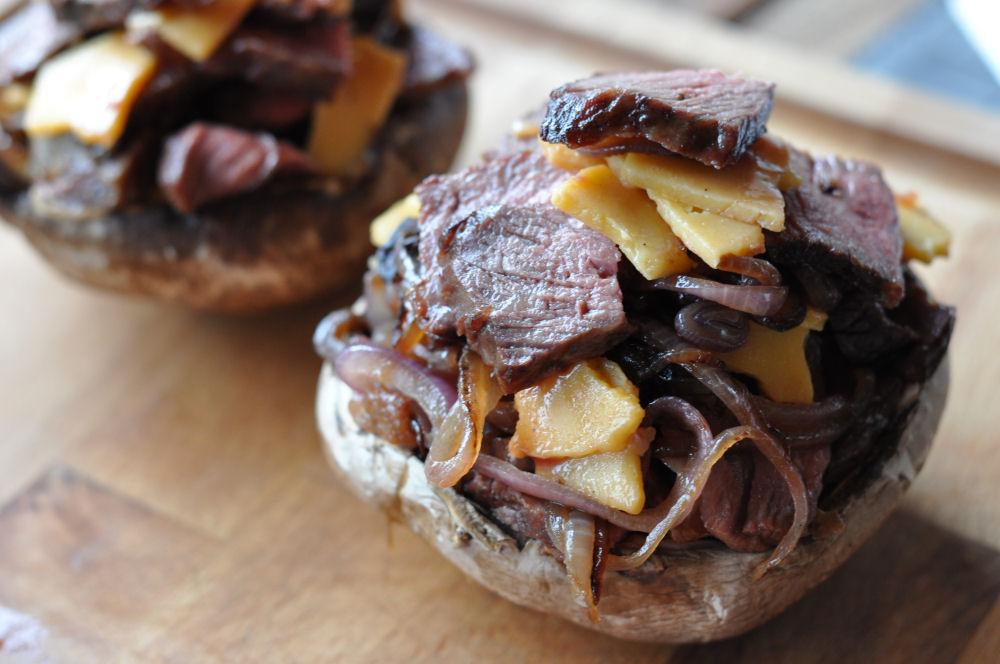 Steak and Cheese Mushroom steak and cheese mushrooms-SteakandCheeseMushroom04-Steak and Cheese Mushrooms – Gefüllte Champignons