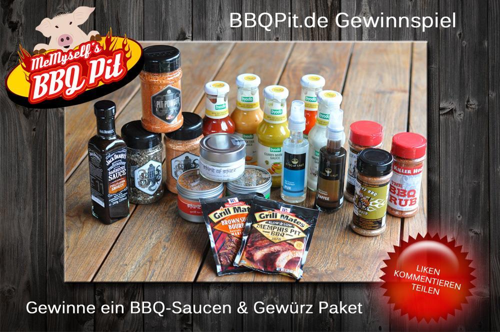 BBQPit-Gewinnspiel BBQPit-Gewinnspiel-BBQGewuerzPaket-BBQPit-Gewinnspiel: BBQ-Saucen und Gewürze zu gewinnen!