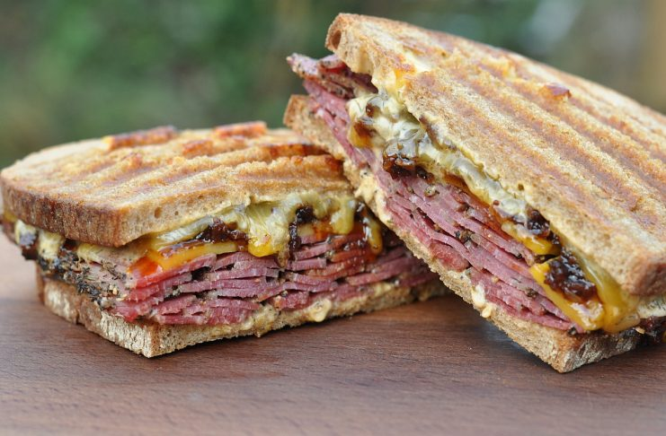 Pastrami Bacon Jam Sandwich