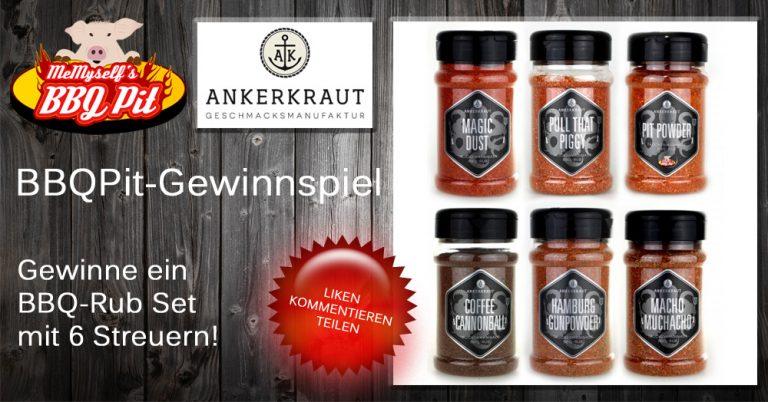 Ankerkraut BBQ-Rub Set mit 6 Streuern zu gewinnen