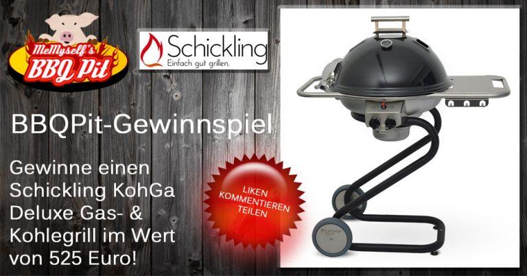 Schickling KohGa Deluxe Gas-/Holzkohlegrill im Wert von 525 Euro zu gewinnen!