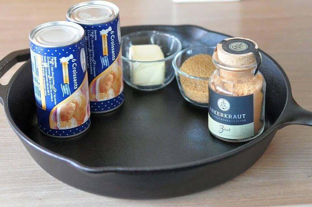Mini-Croissant-Zimtschnecken mini-croissant-zimtschnecken-MiniCroissantZimtschnecken01-Mini-Croissant-Zimtschnecken aus der Gusspfanne