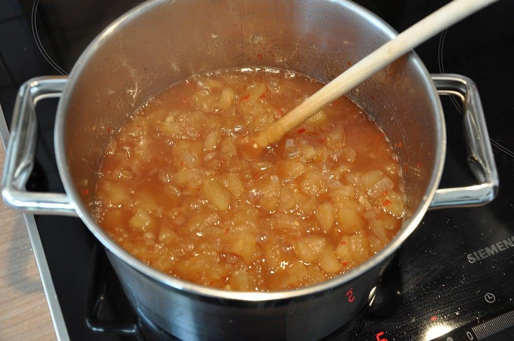 Apfel-Chutney apfelchutney-Apfelchutney02-Apfelchutney – süß-scharfes Chutney mit Chili und Ingwer
