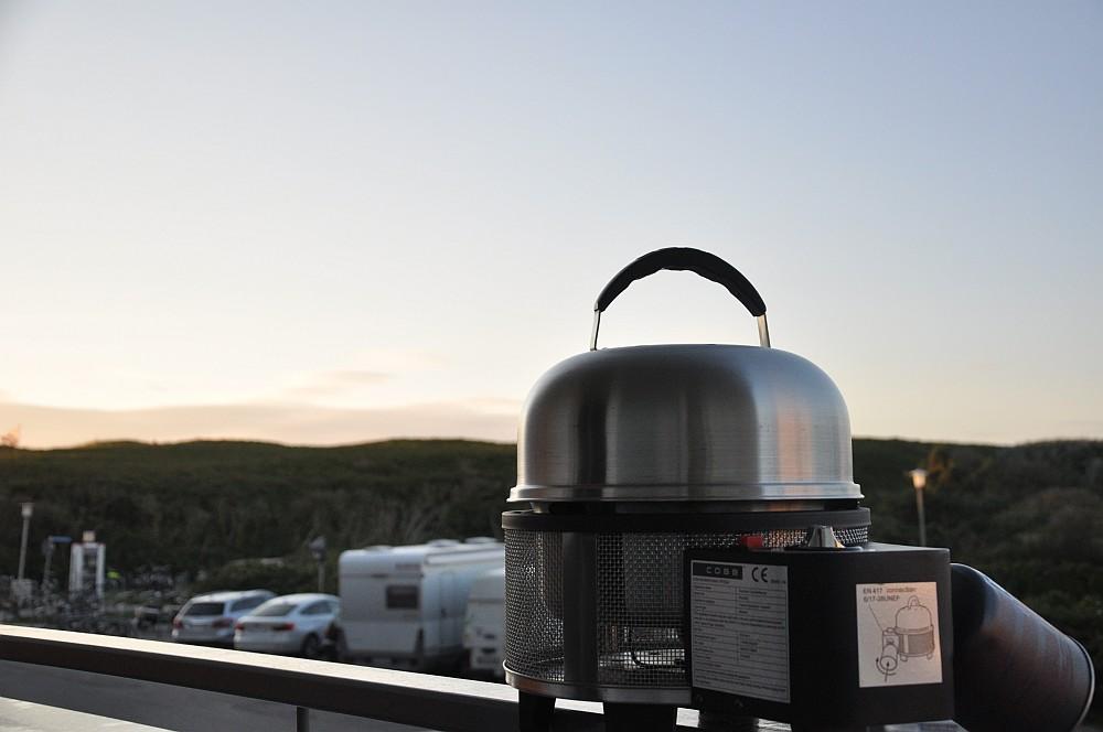 Billig Bord Gasgrill : Cobb premier gas grill im test auf sylt bbqpit.de
