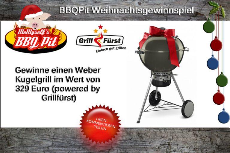 Weihnachtsgewinnspiel 2015: Weber Kugelgrill (Wert 329€) zu gewinnen