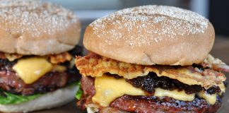Triple Bacon Cheeseburger