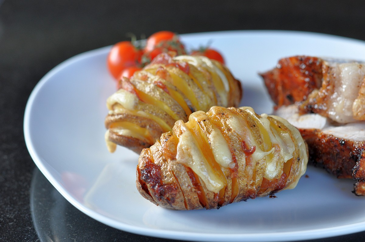 Hasselback Potatoes fächerkartoffeln-FaecherkartoffelnBaconCheese-Fächerkartoffeln mit Bacon & Käse – Hasselback Potatoes