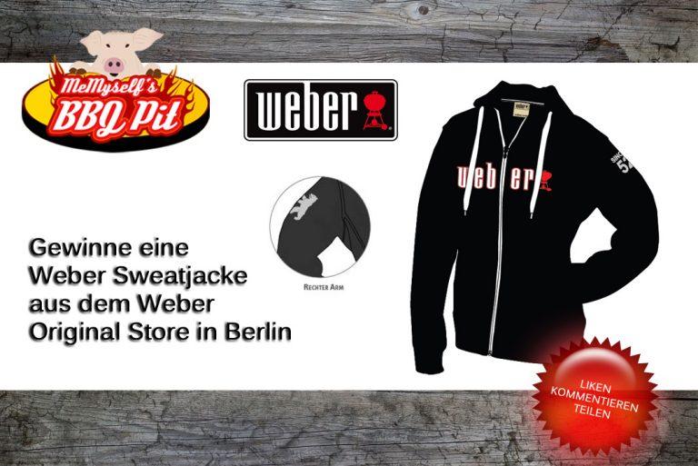 Gewinne eine Weber Sweatjacke aus dem Weber Original Store Berlin