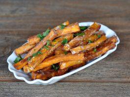 Knusprige Süßkartoffel-Pommes [object object]-KnusprigeSuesskartofelpommes 265x198-BBQPit.de das Grill- und BBQ-Magazin – Grillblog & Grillrezepte –