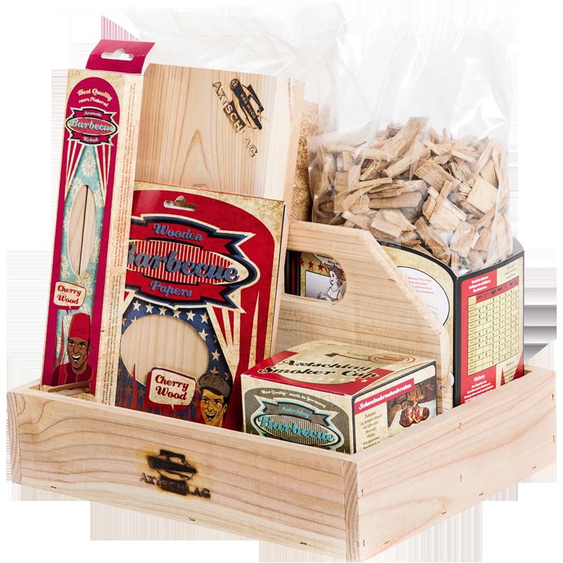 Axtschlag Räucherset axtschlag räucherset-Axtschlag Starterbox BBQ Wood Einsteigerset Raeucherholz-Gewinne eine Axtschlag Räucherset im Wert von 130 €