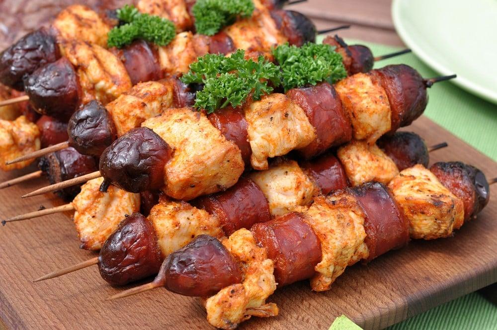 Chicken-Chorizo-Spieße chicken-chorizo-spieße-Chicken Chorizo Spiesse 04-Herzhafte Chicken-Chorizo-Spieße