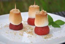 Gegrillte Erdbeeren