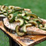 Plankenlachs lachssteak-Lachs Steak mit Gurke Planke 150x150-Geplanktes Lachssteak mit Gurke