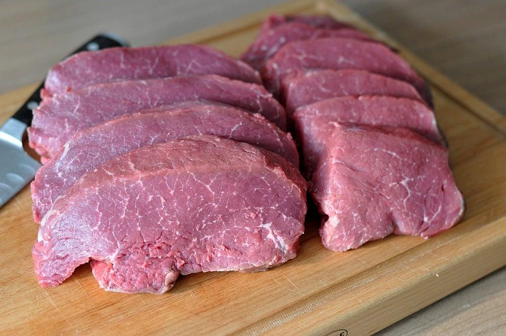 Hüftsteaks rinderhüfte-Rinderhuefte Steakhuefte zerlegen steaks richtig schneiden 06-Rinderhüfte in Steaks zerlegen – Steakhüfte richtig schneiden