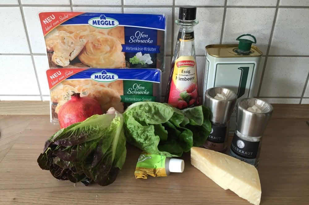 Gegrillter Salat gegrillter salat-Gegrillter Salat Romana Salatherzen 01-Gegrillter Salat mit Parmesan und Granatapfel