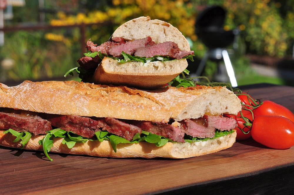 Ibérico Presa-Sandwich ibérico-sandwich-Iberico Sandwich Presa 05-Ibérico-Sandwich mit Apfelchutney und Rucola ibérico-sandwich-Iberico Sandwich Presa 05-Ibérico-Sandwich mit Apfelchutney und Rucola
