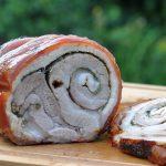 porchetta-Porchetta Gerollter Schweinebauch 150x150-Porchetta – gerollter Schweinebauch vom Drehspieß