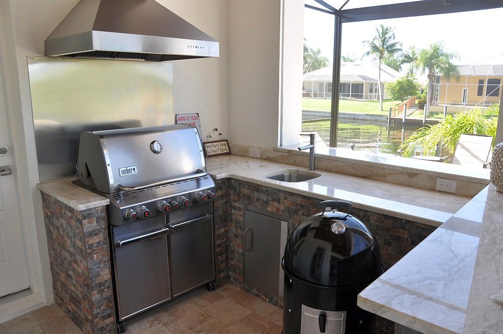 """Außenküche Villa Sedona villa sedona-Villa Sedona Cape Coral Florida Grillvilla 04-Villa Sedona in Cape Coral / Florida – die """"Grillvilla"""""""