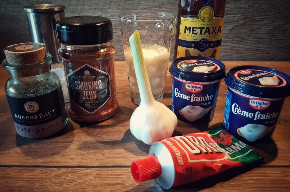 Zutaten Metaxasauce metaxa-sauce-Metaxa Sauce Griechisch 01-Metaxa-Sauce – Rezept und Anleitung für die griechische Sauce