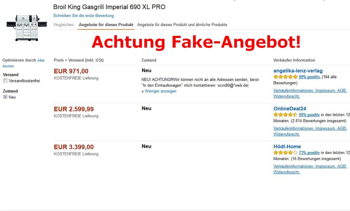 Fake-Angebote im Internet