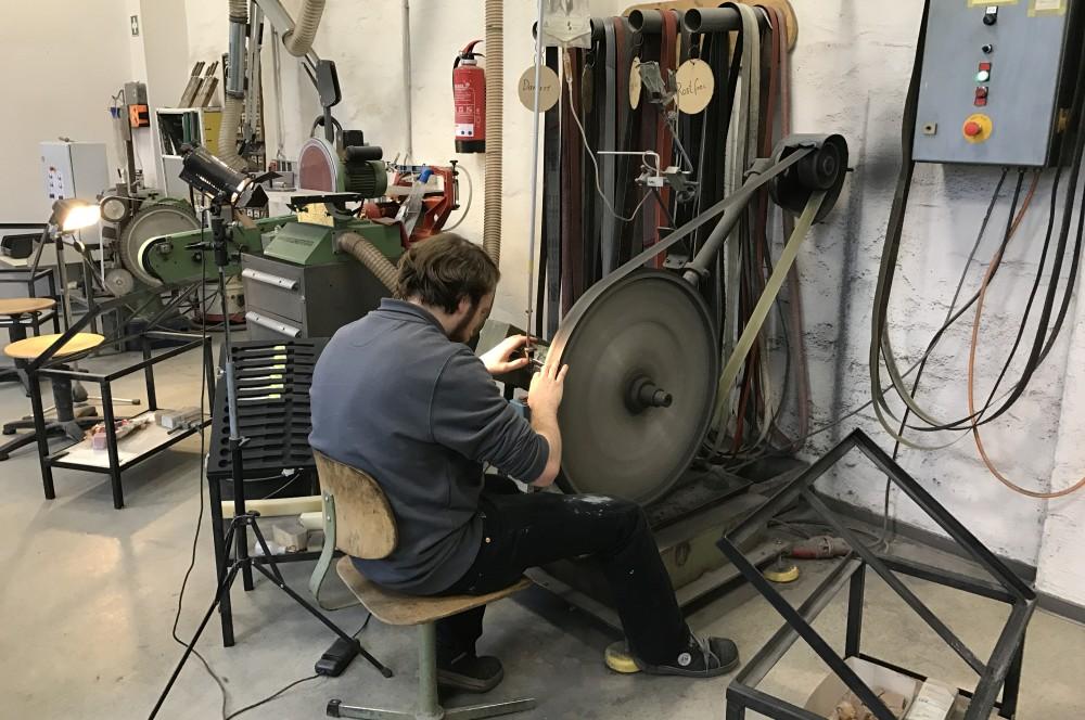 Messer schleifen nesmuk-Werksbesichtigung Nesmuk 09-Nesmuk Messermanufaktur – Werksbesichtigung in Solingen