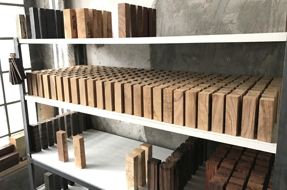 Holz für Messergriffe nesmuk-Werksbesichtigung Nesmuk 18-Nesmuk Messermanufaktur – Werksbesichtigung in Solingen