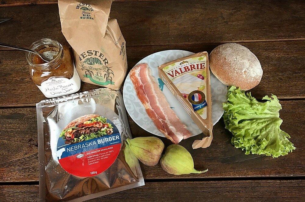 Nebraska Burger brie burger-Brie Burger mit Feigen 01-Brie Burger mit Feige und Bacon