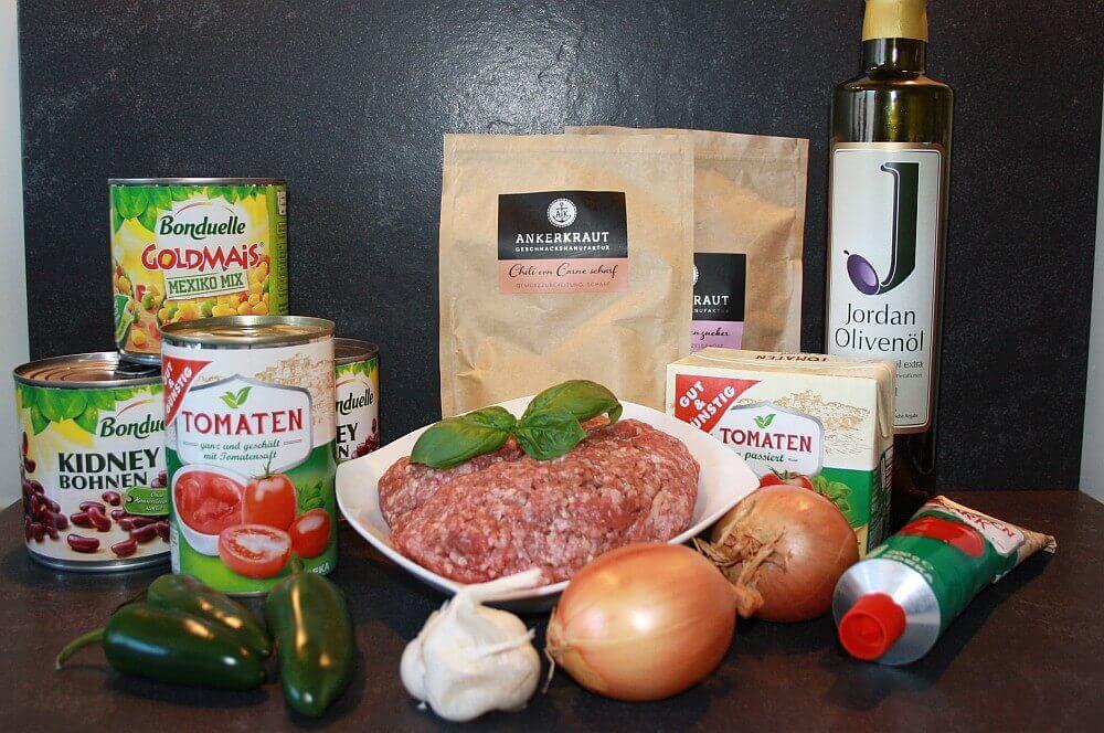Zutaten für Chili con Carne chili con carne-Chili con Carne Dutch Oven 01-Chili con Carne aus dem Dutch Oven chili con carne-Chili con Carne Dutch Oven 01-Chili con Carne aus dem Dutch Oven