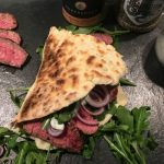 hüftsteak-sandwich-Hueftsteak Sandwich Naan Brot 150x150-Hüftsteak-Sandwich mit Rucola im Naan-Brot