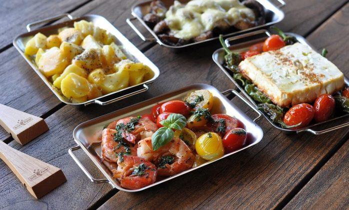 Grillpfännchen grillen mit grillpfännchen-Grillen mit Grillpf C3 A4nnchen 698x420-Grillen mit Grillpfännchen – Kleine Snacks und Raclette vom Grill