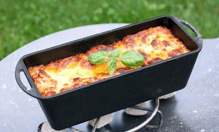 Lasagne aus der Kastenform